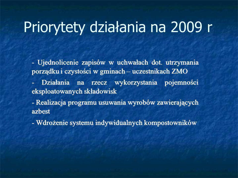 Priorytety działania na 2009 r