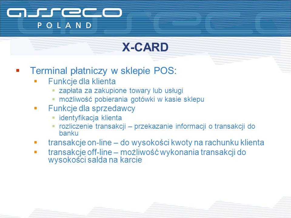 X-CARD Terminal płatniczy w sklepie POS: Funkcje dla klienta