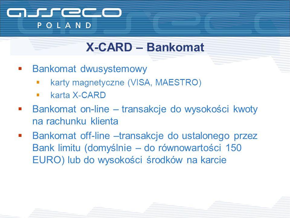 X-CARD – Bankomat Bankomat dwusystemowy