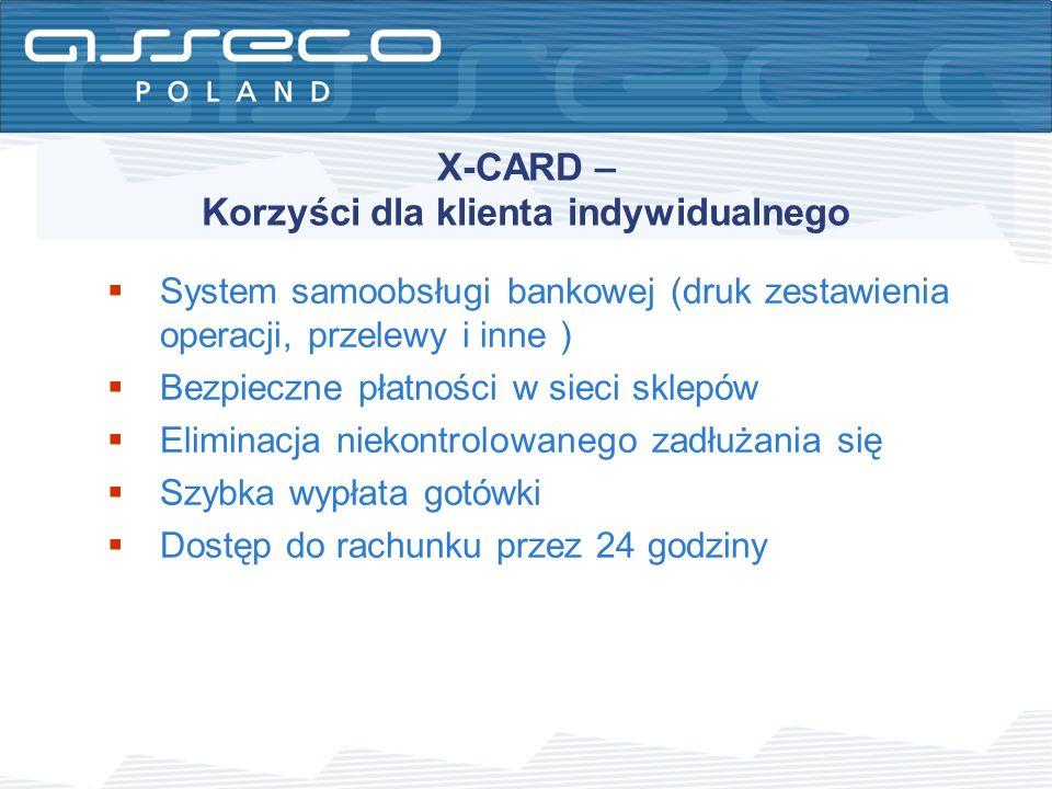 X-CARD – Korzyści dla klienta indywidualnego