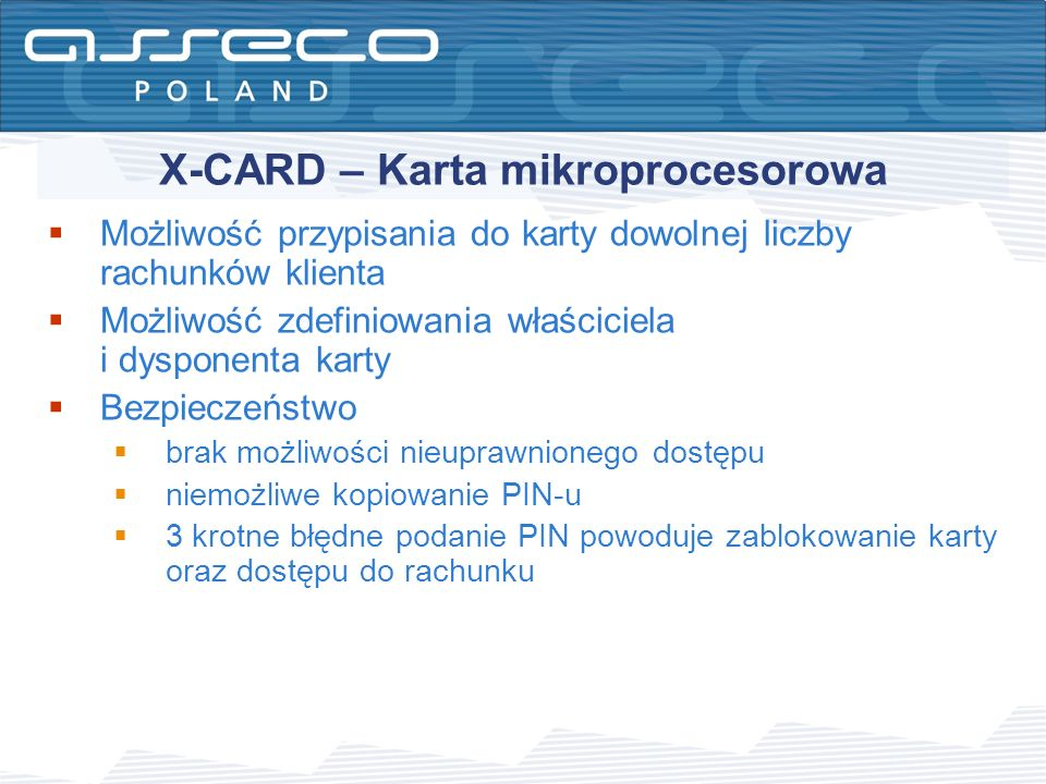 X-CARD – Karta mikroprocesorowa
