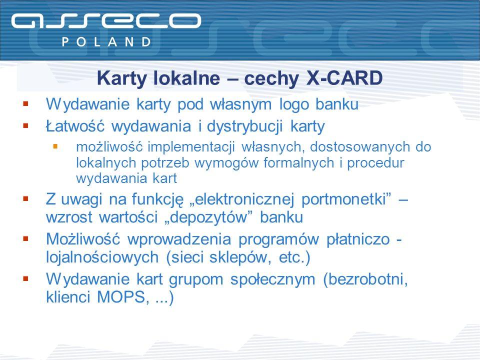 Karty lokalne – cechy X-CARD