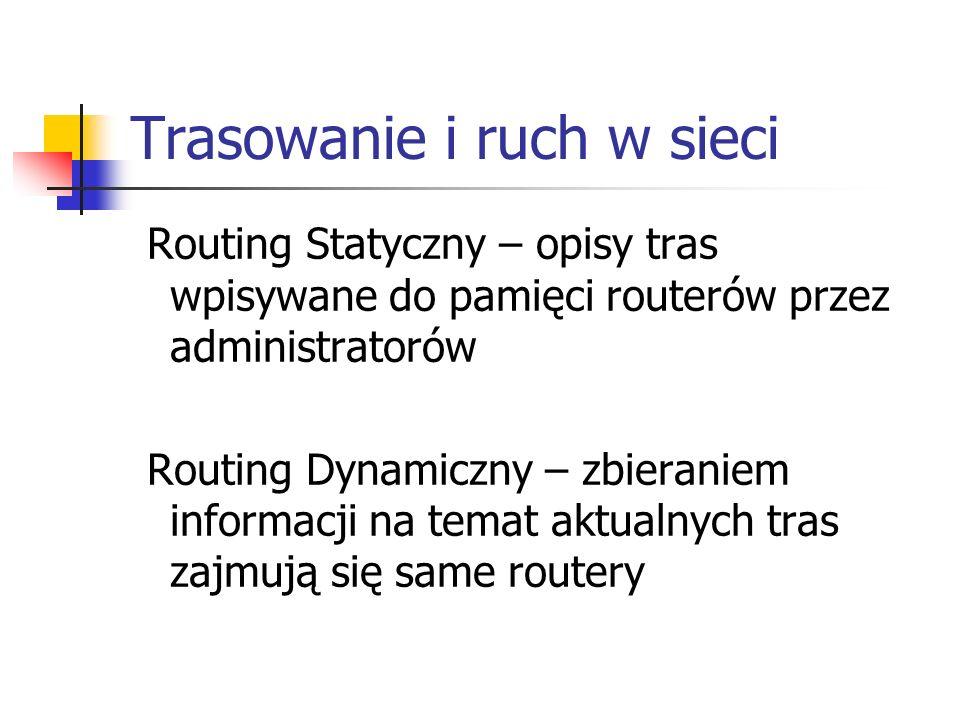 Trasowanie i ruch w sieci