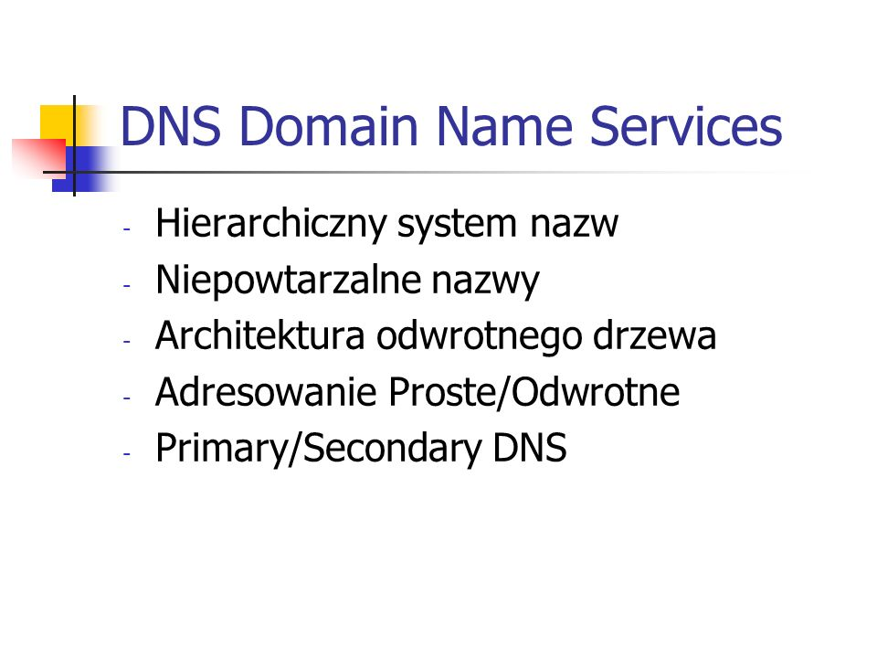 DNS Domain Name Services