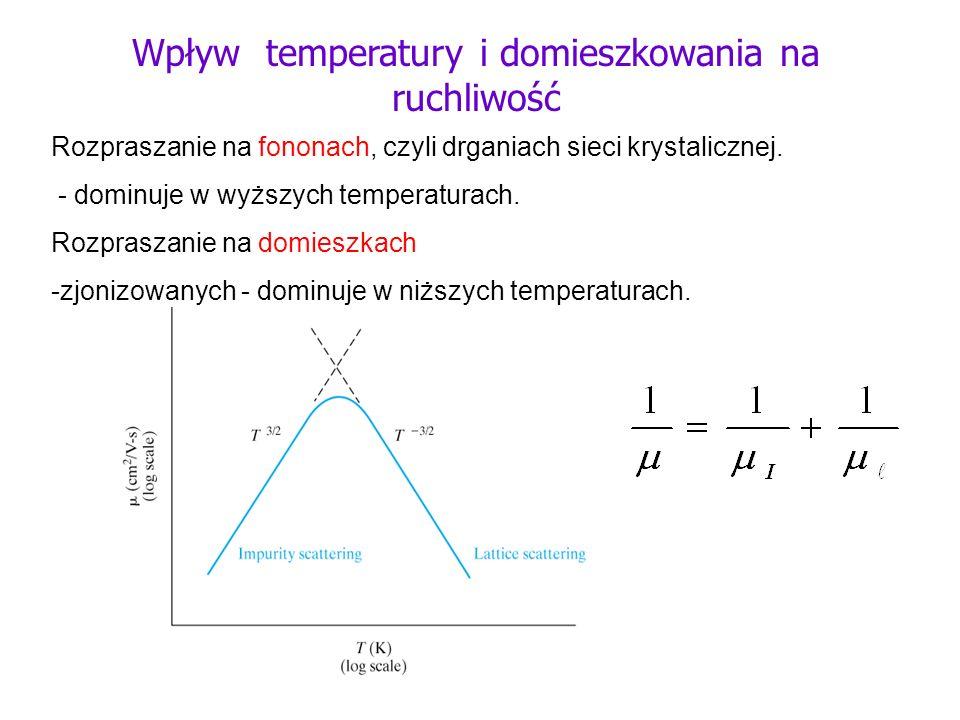 Wpływ temperatury i domieszkowania na ruchliwość