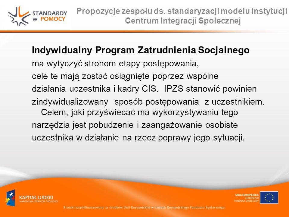 Indywidualny Program Zatrudnienia Socjalnego