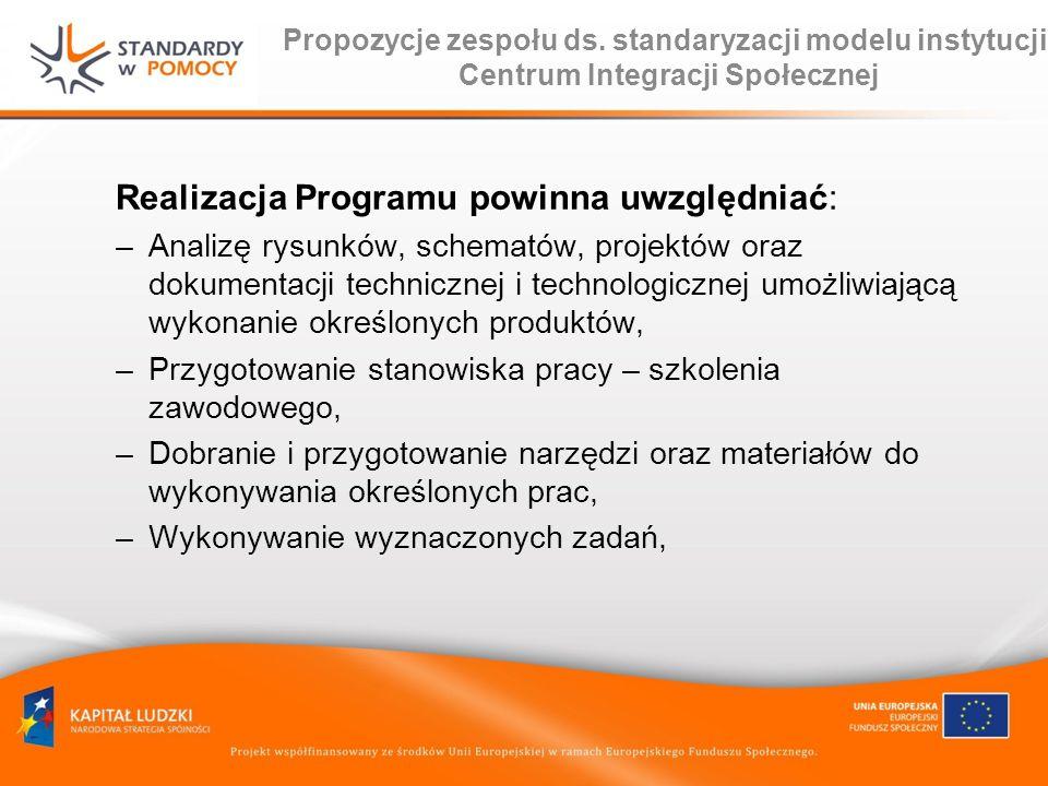Realizacja Programu powinna uwzględniać: