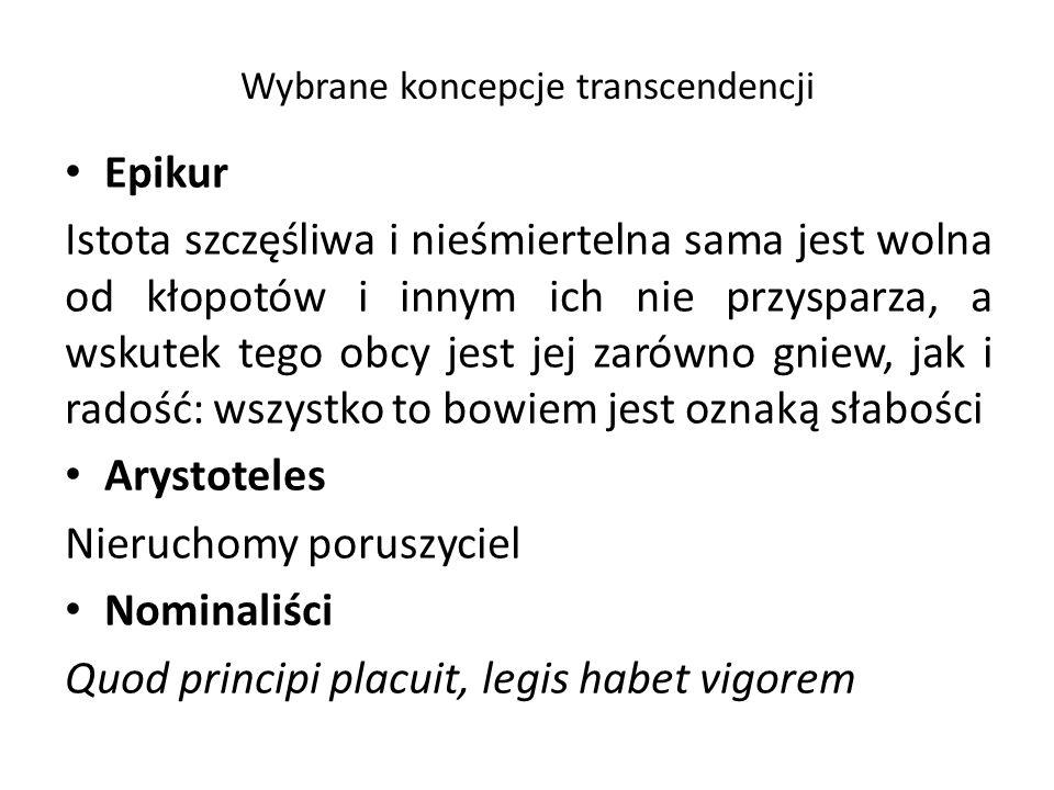 Wybrane koncepcje transcendencji