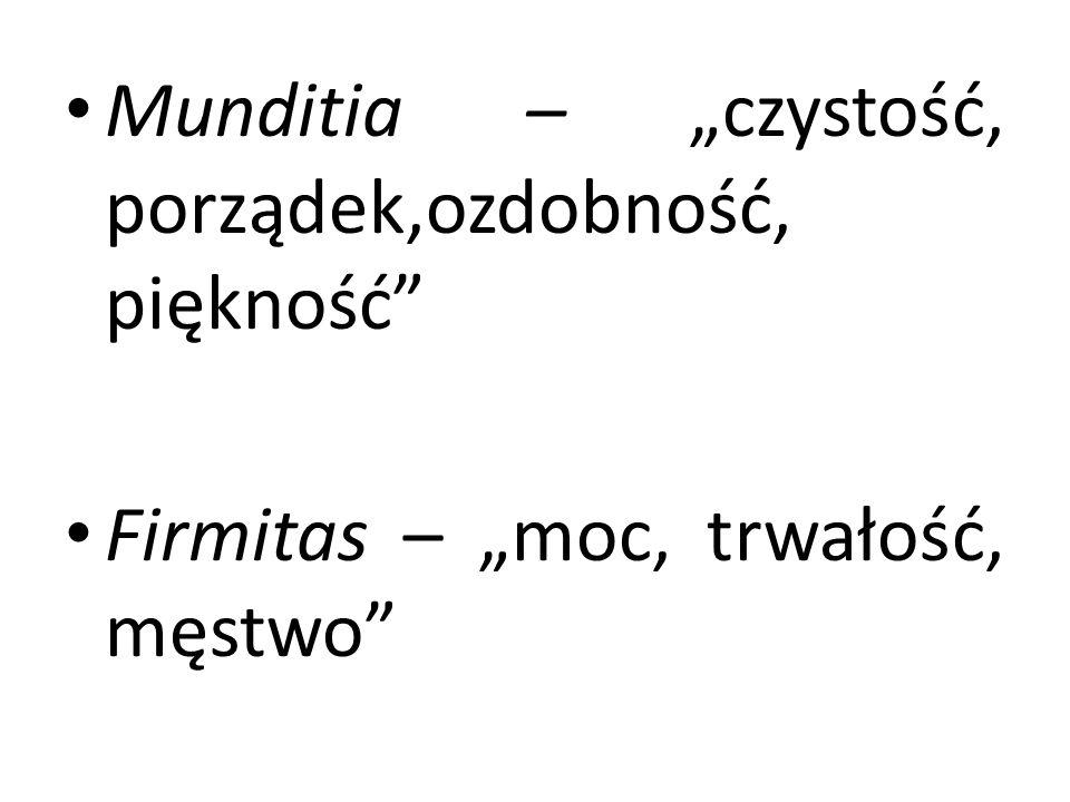 """Munditia – """"czystość, porządek,ozdobność, piękność"""