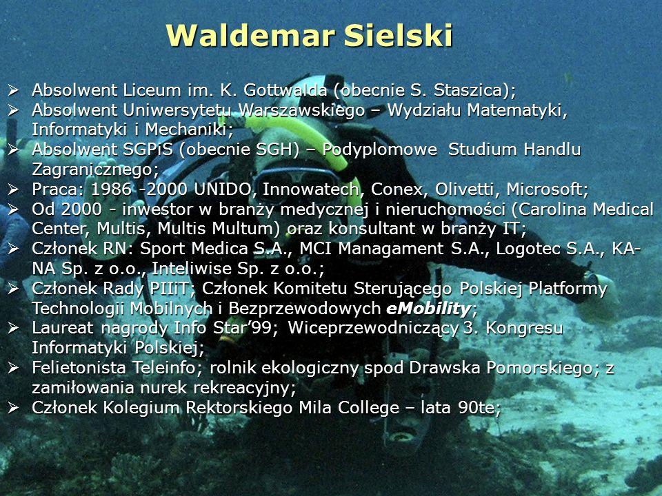 Waldemar Sielski Absolwent Liceum im. K. Gottwalda (obecnie S. Staszica);