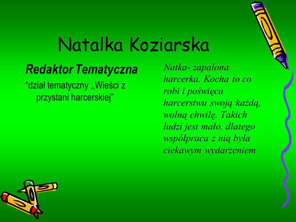 Natalka Koziarska Redaktor Tematyczna