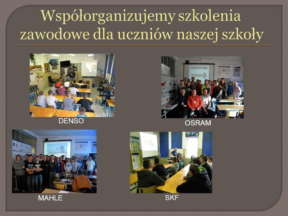 Współorganizujemy szkolenia zawodowe dla uczniów naszej szkoły