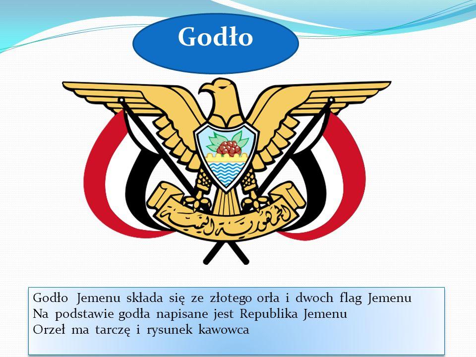 Godło Godło Jemenu składa się ze złotego orła i dwoch flag Jemenu