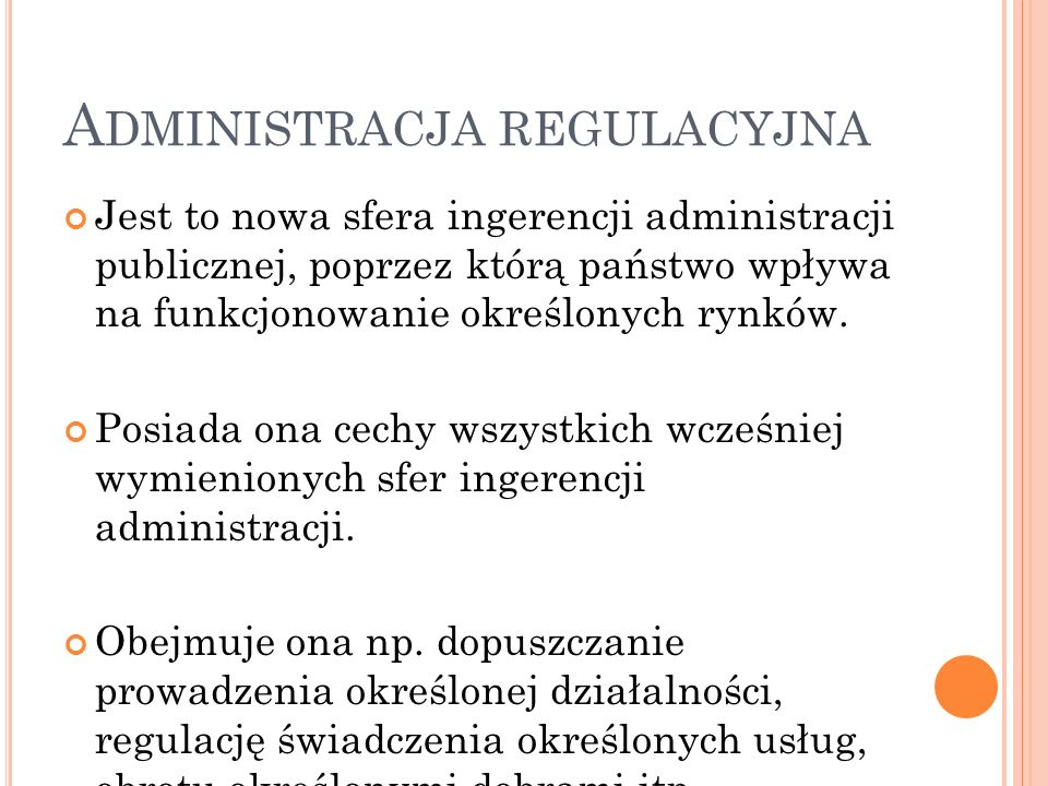 Administracja regulacyjna