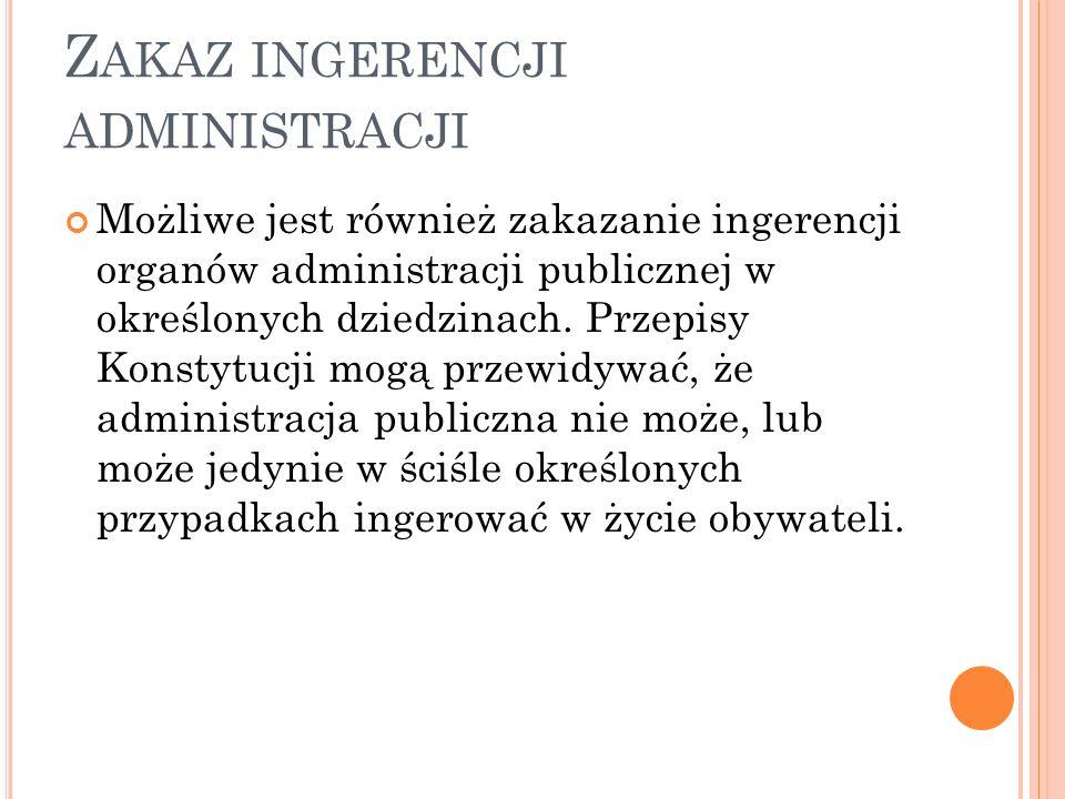 Zakaz ingerencji administracji