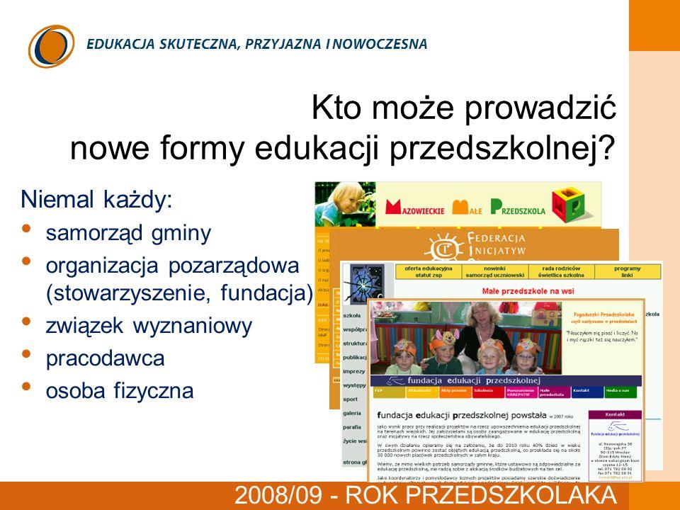 Kto może prowadzić nowe formy edukacji przedszkolnej