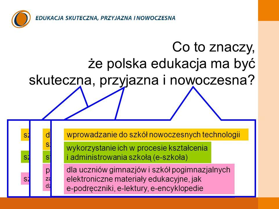 Co to znaczy, że polska edukacja ma być skuteczna, przyjazna i nowoczesna