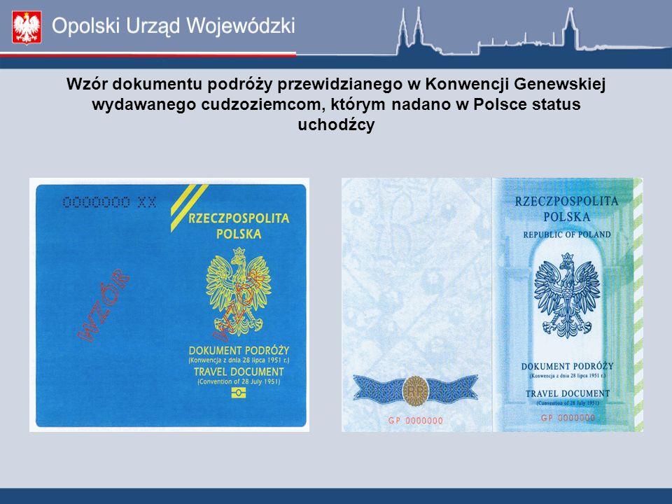 Wzór dokumentu podróży przewidzianego w Konwencji Genewskiej wydawanego cudzoziemcom, którym nadano w Polsce status uchodźcy
