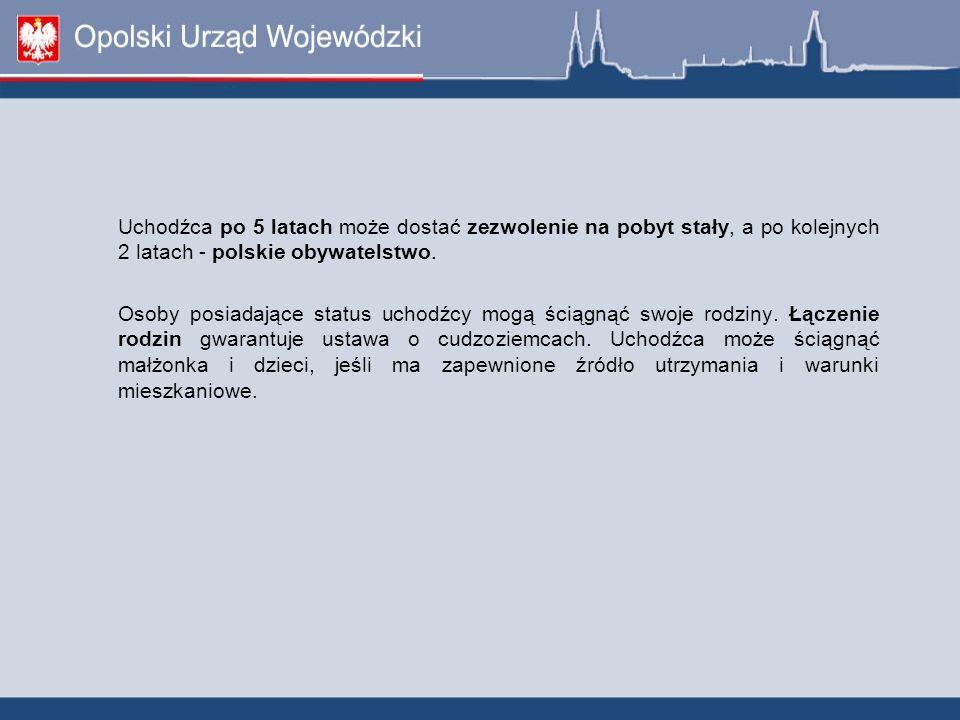 Uchodźca po 5 latach może dostać zezwolenie na pobyt stały, a po kolejnych 2 latach - polskie obywatelstwo.