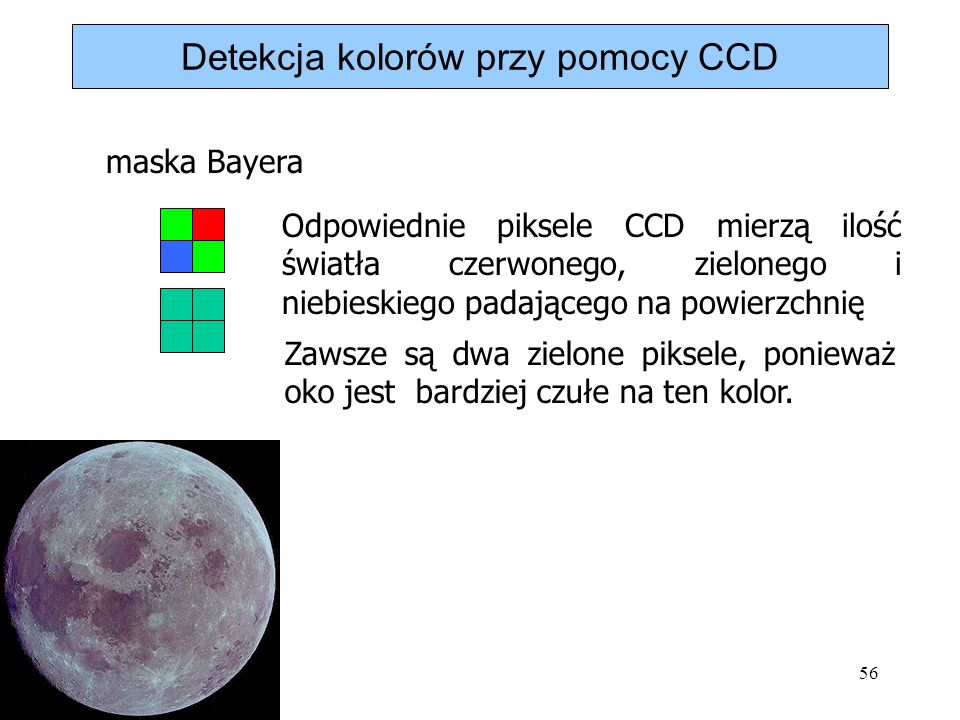 Detekcja kolorów przy pomocy CCD