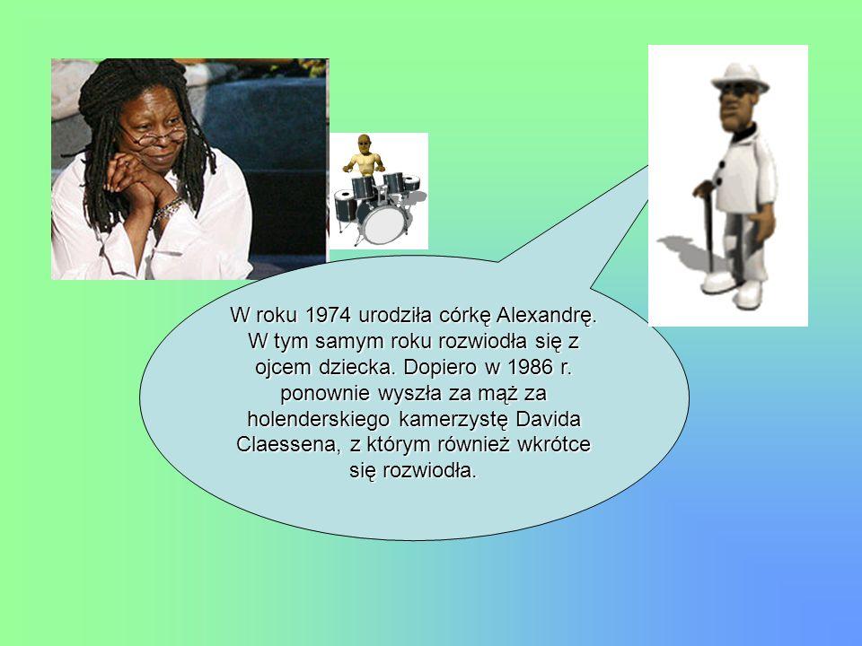 W roku 1974 urodziła córkę Alexandrę