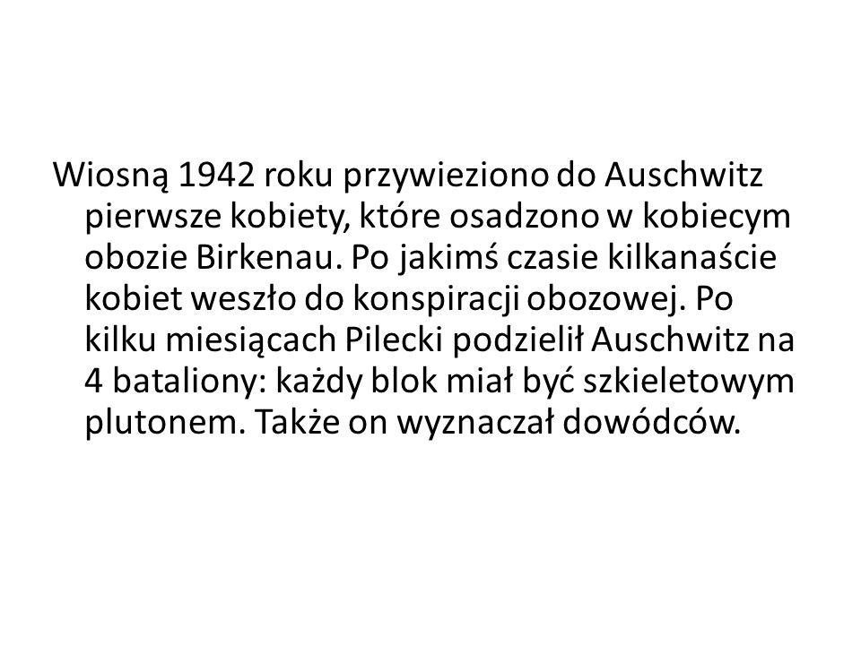 Wiosną 1942 roku przywieziono do Auschwitz pierwsze kobiety, które osadzono w kobiecym obozie Birkenau.