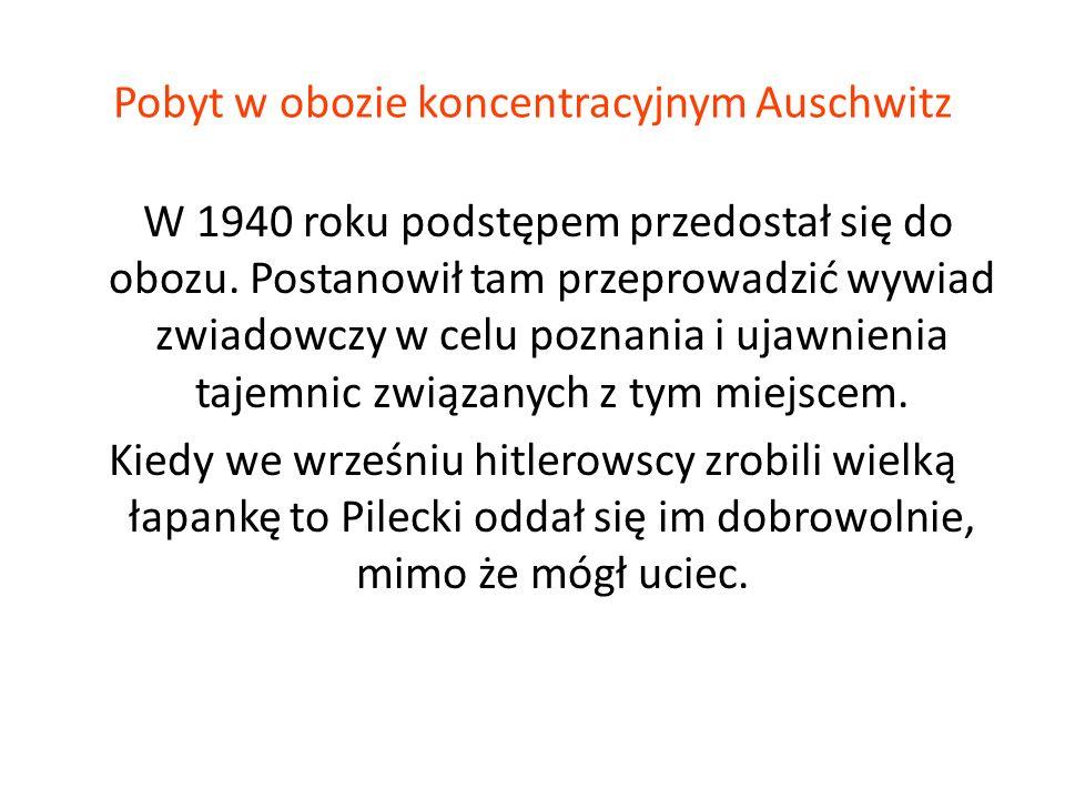 Pobyt w obozie koncentracyjnym Auschwitz