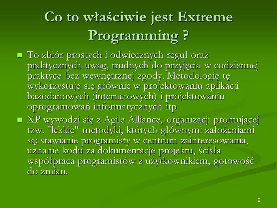Co to właściwie jest Extreme Programming
