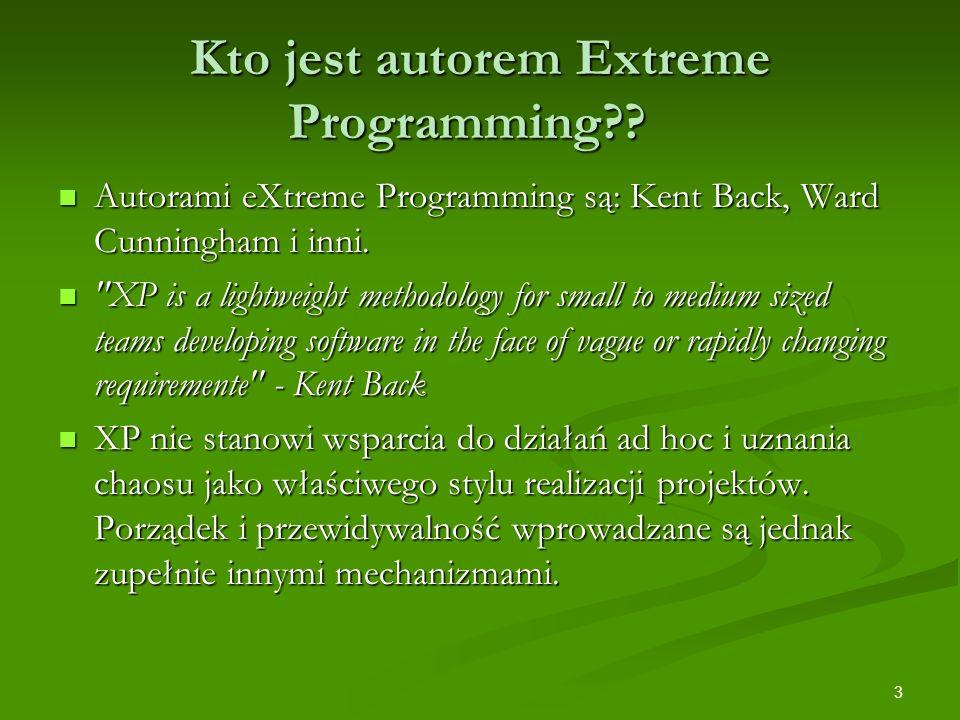 Kto jest autorem Extreme Programming
