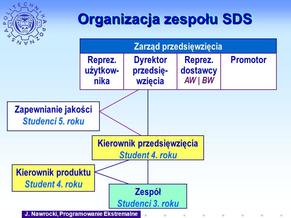 Organizacja zespołu SDS