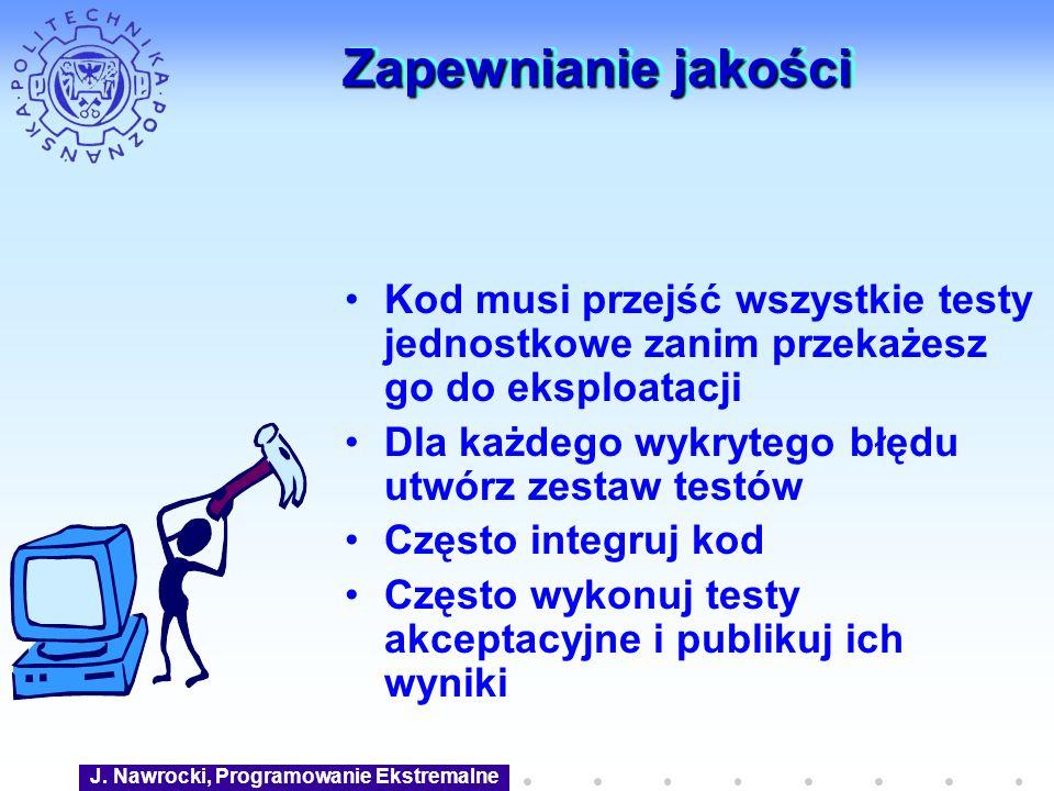 J. Nawrocki, Programowanie Ekstremalne