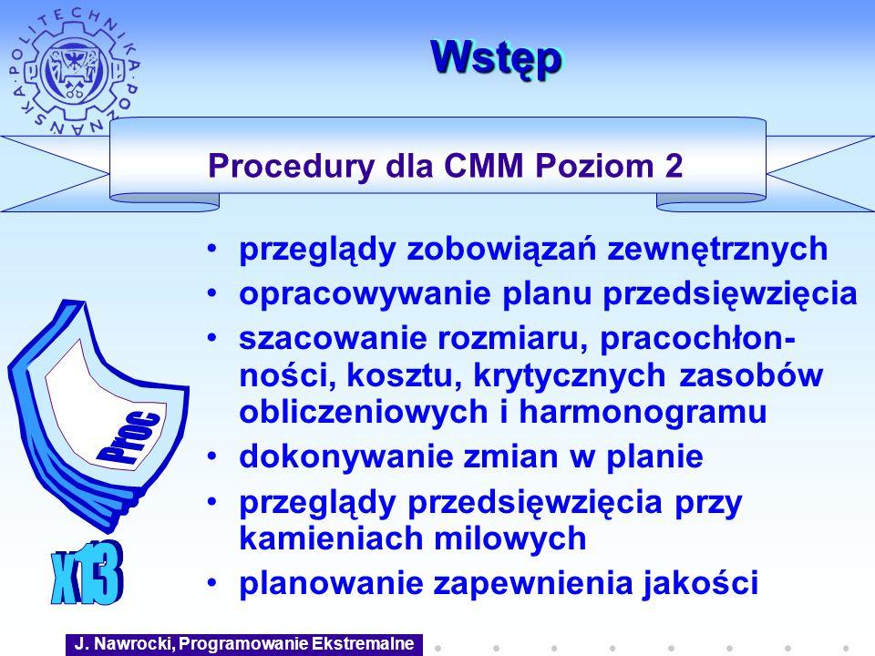 Procedury dla CMM Poziom 2