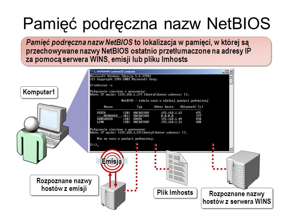 Pamięć podręczna nazw NetBIOS