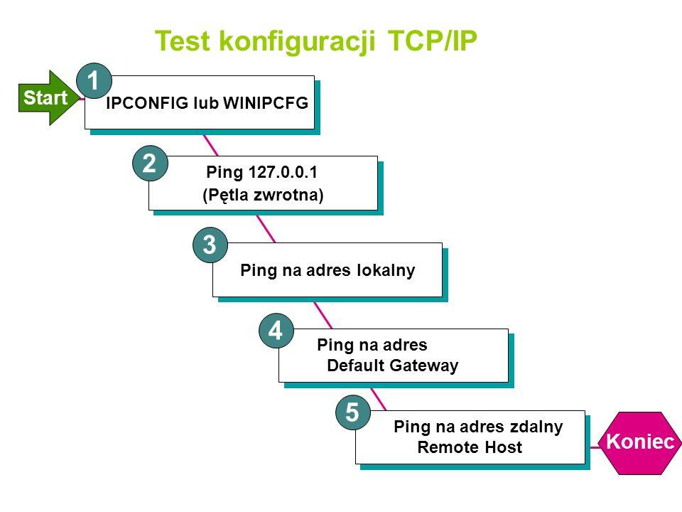 Test konfiguracji TCP/IP