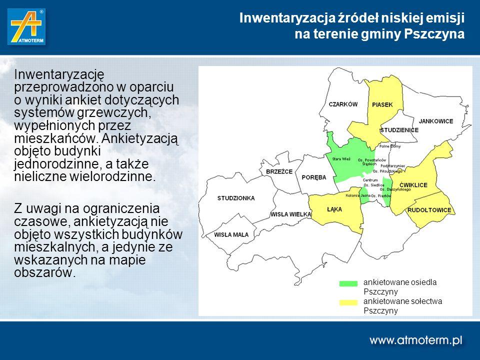 Inwentaryzacja źródeł niskiej emisji na terenie gminy Pszczyna
