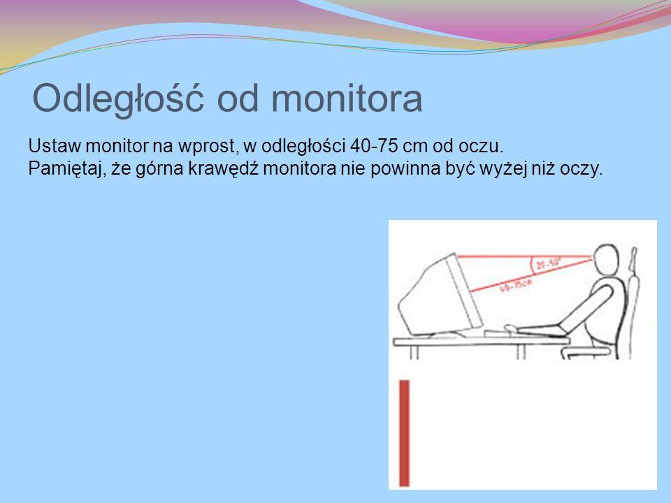 Odległość od monitora