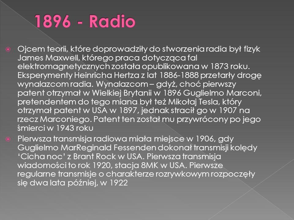 1896 - Radio