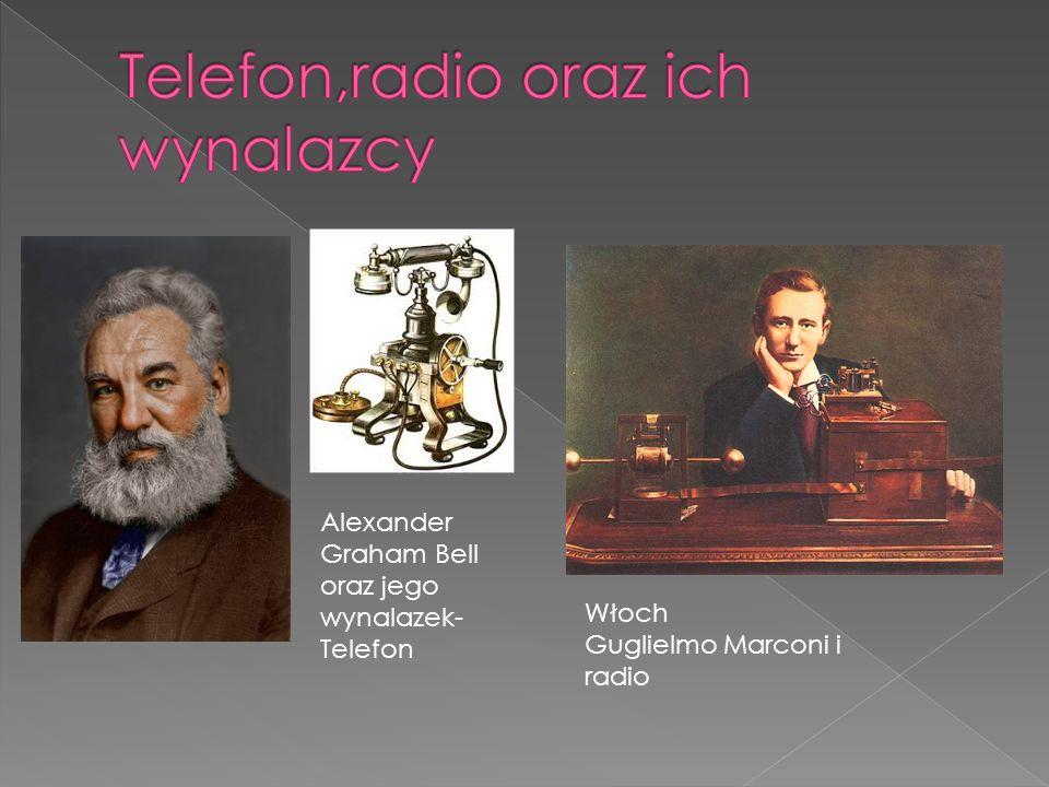 Telefon,radio oraz ich wynalazcy