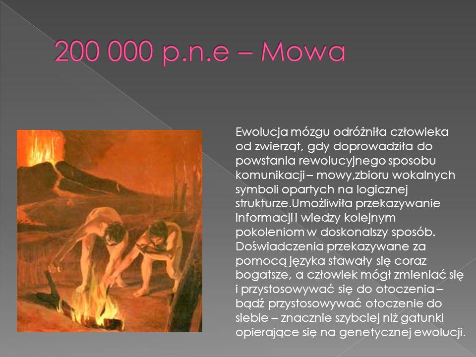 200 000 p.n.e – Mowa