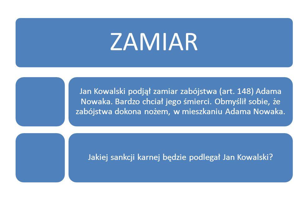 Jakiej sankcji karnej będzie podlegał Jan Kowalski