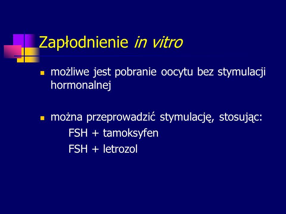 Zapłodnienie in vitro możliwe jest pobranie oocytu bez stymulacji hormonalnej. można przeprowadzić stymulację, stosując: