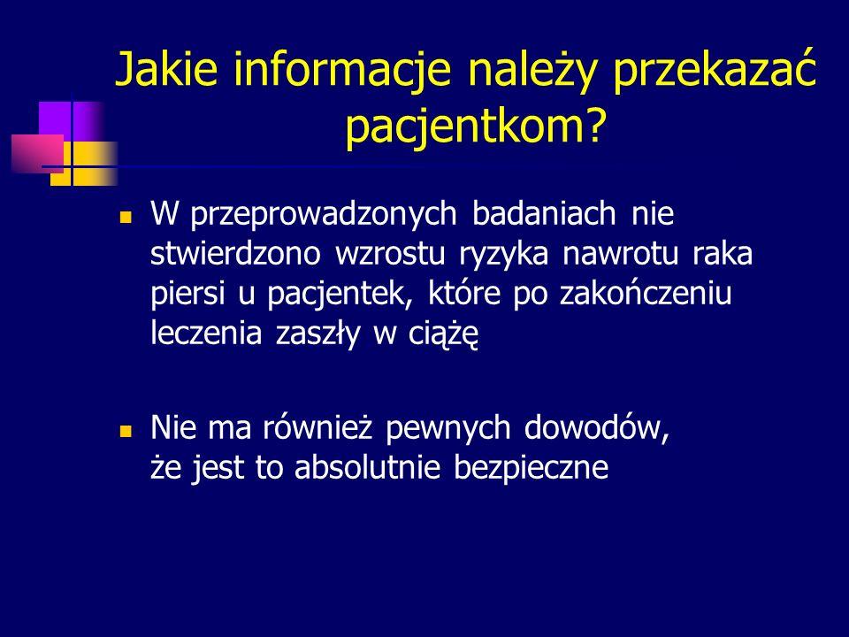 Jakie informacje należy przekazać pacjentkom
