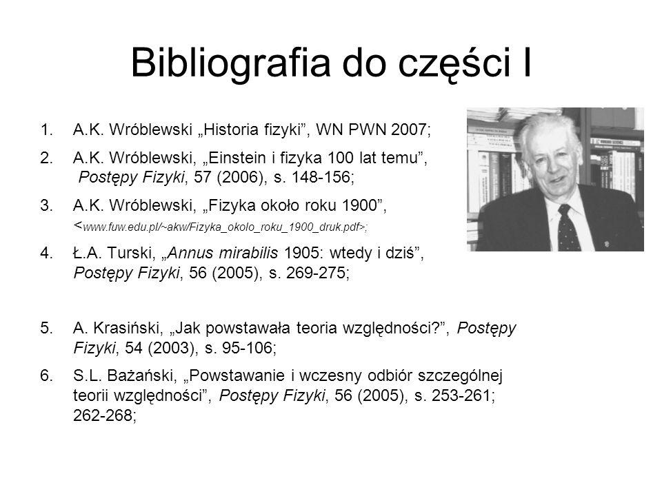 Bibliografia do części I