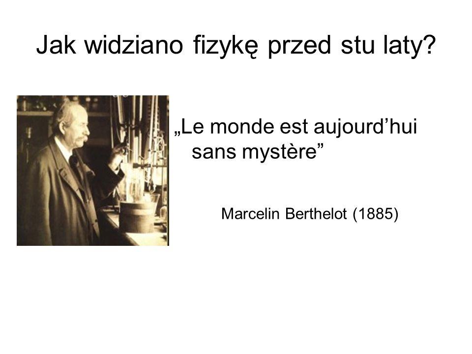 Jak widziano fizykę przed stu laty