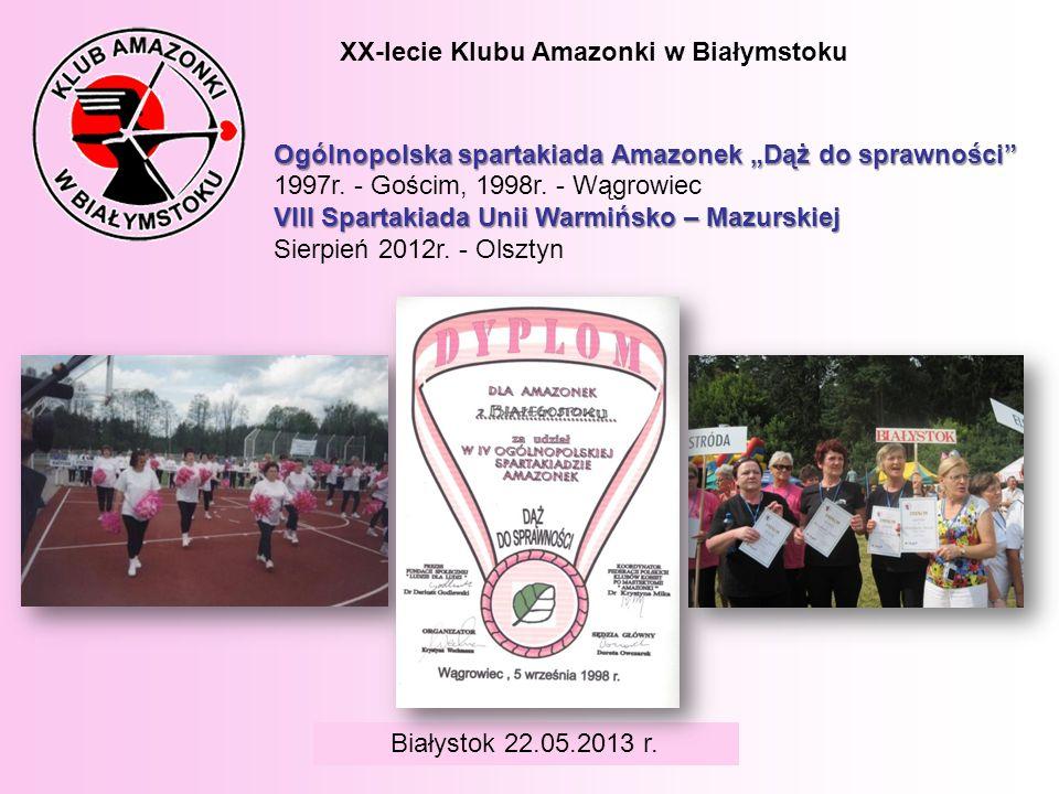 XX-lecie Klubu Amazonki w Białymstoku