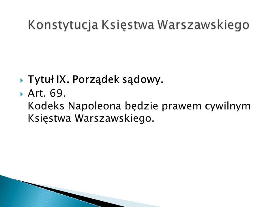 Konstytucja Księstwa Warszawskiego