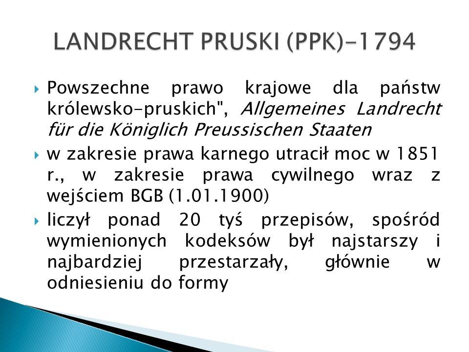 LANDRECHT PRUSKI (PPK)-1794