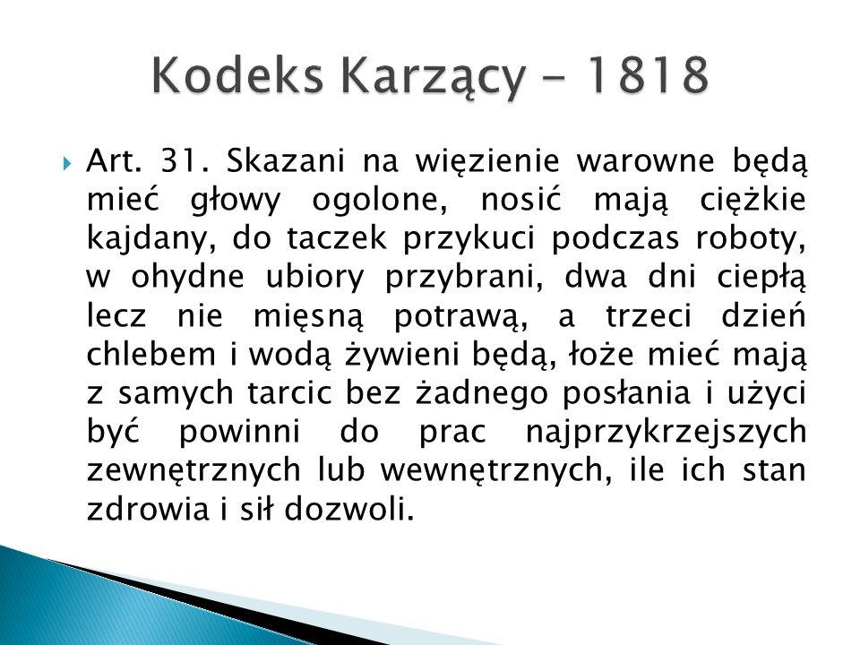 Kodeks Karzący - 1818