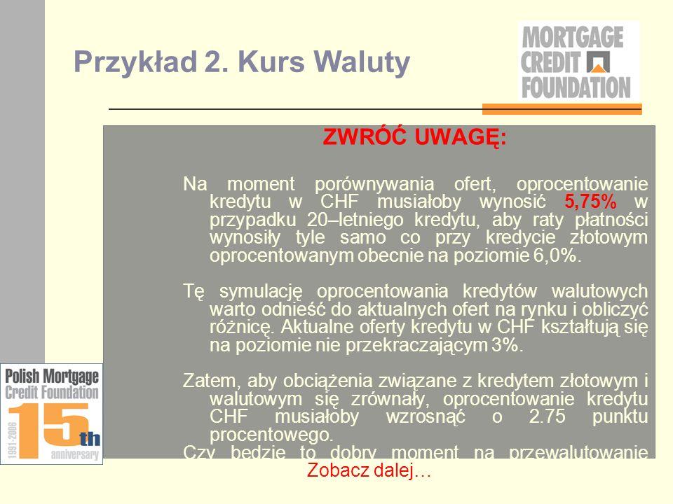Przykład 2. Kurs Waluty ZWRÓĆ UWAGĘ: