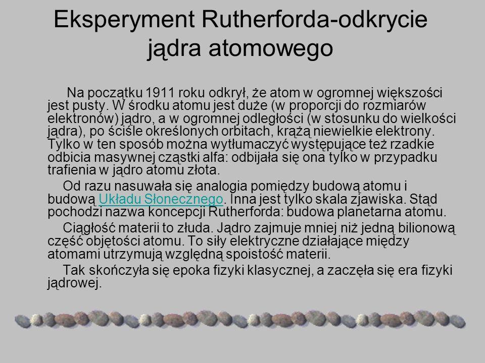 Eksperyment Rutherforda-odkrycie jądra atomowego